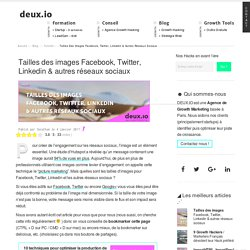 [Guide 2019] Tailles d'images Facebook, Twitter, Linkedin...