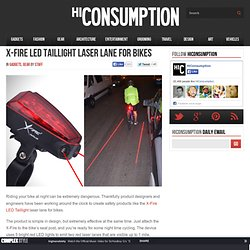 X-Fire LED Taillight Laser Lane for Bikes