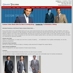 Tailor Made Suits, Custom Made Suit for Men in Hong Kong