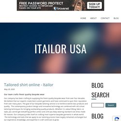 Tailored shirt online - Itailor