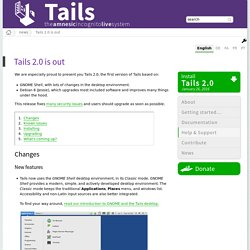 Tails 2.0 is out