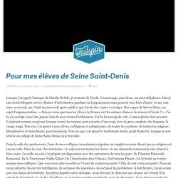 Tailspin - Pour mes élèves de Seine Saint-Denis