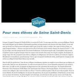 Pour mes élèves de Seine Saint-Denis
