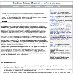 TaintDroid: Realtime Privacy Monitoring on Smartphones