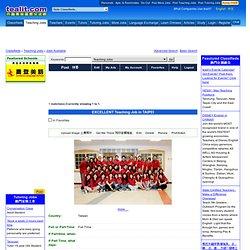 taiwan Teaching Jobs - EXCELLENT Teaching Job in TAIPEI