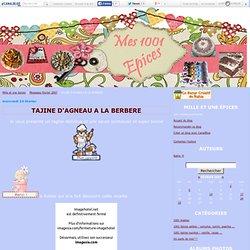 TAJINE D'AGNEAU A LA BERBERE - Mes mille et une épices