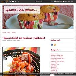 Tajine de boeuf aux poivrons (mijot'cook)