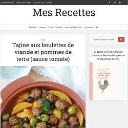 Tajine aux boulettes de viande et pommes de terre (sauce tomate)