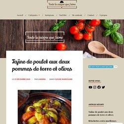 Tajine de poulet aux deux pommes de terre et olives