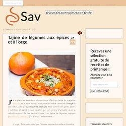 Tajine: tajine de légumes (carotte, potimarron, panais) à l'orge