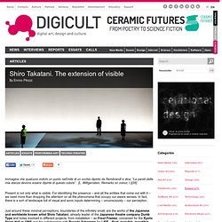 The extension of visible: shapes of time, acoustic images & chromatic figures
