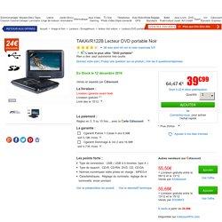 TAKAVR122B Lecteur DVD portable Noir - lecteur dvd portable, avis et prix pas cher