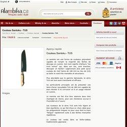 Couteau Santoku - TUS par Sakai Takayuki dans Couteaux Japonais - Couteaux chez Alambika, Montreal, Quebec, Canada.