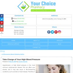 Take Charge of Your High Blood Pressure