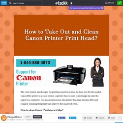 How to Take Out and Clean Canon Printer Print Head?