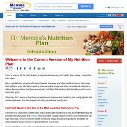 Take Control of Your Health With My Nutrition Plan