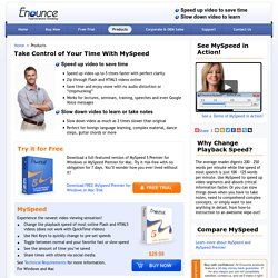 Take Control of Your Time With MySpeed - Enounce