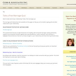 Take a Free Marriage Quiz by Dr. Nathan Cobb