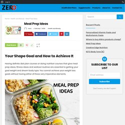 Take a look at these amazing Meal Prep Ideas