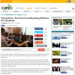 Takeashine: The First Crowdfunding Platform For Students