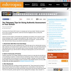 Ten Takeaway Tips for Using Authentic Assessment in Your School