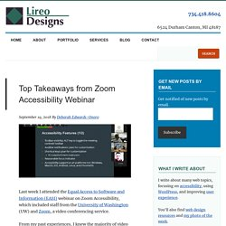 Top Takeaways from Zoom Accessibility Webinar