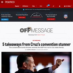 5 takeaways from Cruz's convention stunner