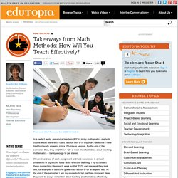 Takeaways from Math Methods: How Will You Teach Effectively?