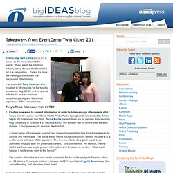 Takeaways from EventCamp Twin Cities 2011 - The Big Ideas Blog from Omnipress