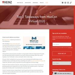 Top 2 Takeaways from MozCon Virtual 2020