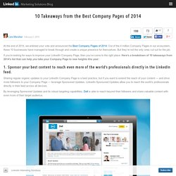 10 Takeaways from the Best Company Pages of 2014