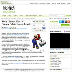 SEO Takeaways From J.C. Penney Google Paid Link Penalty