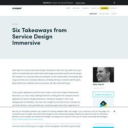 Six Takeaways from Service Design Immersive