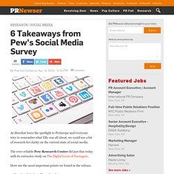 6 Takeaways from Pew's Social Media Survey
