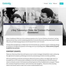 3 Key Takeaways From the 'Content Platform Showdown'