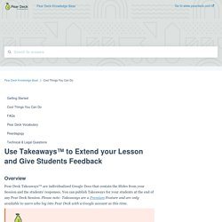 Use Takeaways™ to Extend your Lesson and Give Students Feedback
