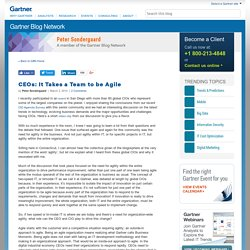 CEOs: It Takes a Team to be Agile - Peter Sondergaard