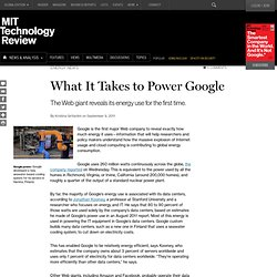 What It Takes to Power Google