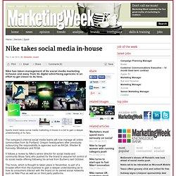 Nike takes social media in-house