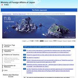 Article presse - Territoire japonais : Takeshima