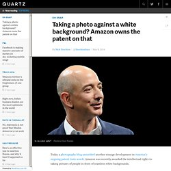 Taking a photo against a white background? Amazon owns the patent on that