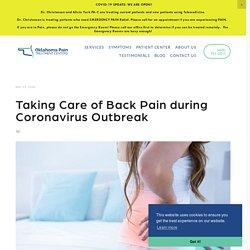 Taking Care of Back Pain during Coronavirus Outbreak