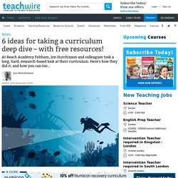 6 ideas for taking a curriculum deep dive – with free resources!