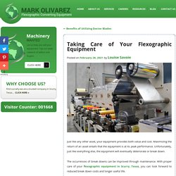 Taking Care of Your Flexographic Equipment
