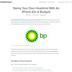 Taking Your Own Headshot With An iPhone (On A Budget)