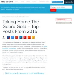 Taking Home The Gooru Gold - Top Posts From 2015