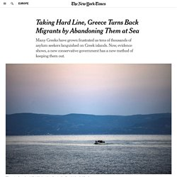 Taking Hard Line, Greece Turns Back Migrants by Abandoning Them at Sea