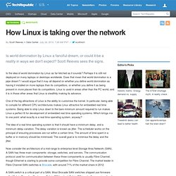 How Linux is taking over the network