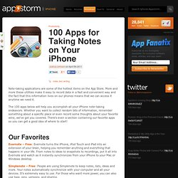 100 Apps for Taking Notes on Your iPhone