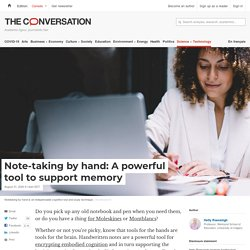 Note-taking by hand: A powerful tool to support memory